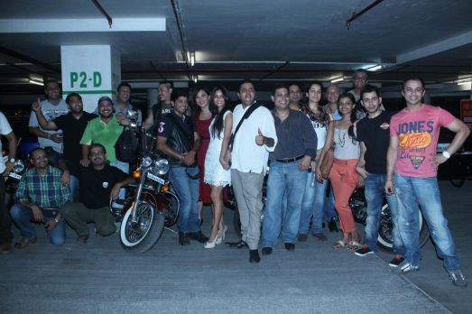 01 Ash Chandler with his Gang of Hardley Davidson Cruisers & the Starcast of the Film at the Premiere of 'Love, Wrinkle-Free' PVR, Phoenix
