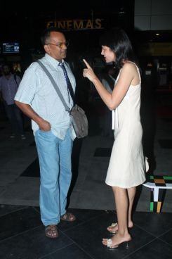 Remo Fernandes & Seema Rahamani at the premiere of 'Love, Wrinkle-Free' at PVR, Phoenix.