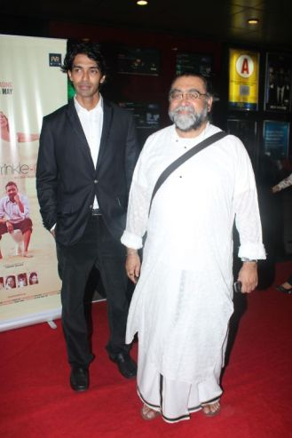 Sandeep John (Director) & Prahlad Kakkar at the Red Carpet of 'Love, Wrinkle-Free' premiere at PVR, Phoenix..
