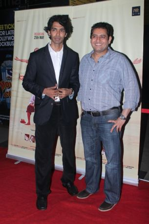 Sandeep John (Director) & Yusuf at the Red Carpet of 'Love, Wrinkle-Free' premiere at PVR, Phoenix..