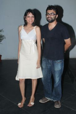 Seema Rahamani & the Editor of the Film at the premiere of 'Love, Wrinkle-Free' at PVR, Phoenix.