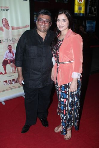 Simone Singh with Husband at the premiere of 'Love, Wrinkle-Free' at PVR, Phoenix.