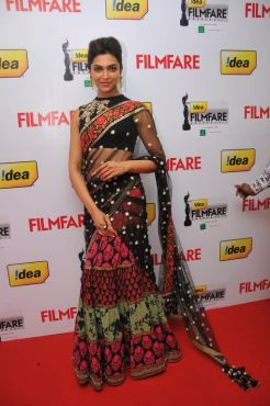 Deepika Padukone at the Red Carpet of '59th !dea Filmfare Awards 2011' (South) on 8th July at Jawaharlal Nehru indoor stadium, Chennai..