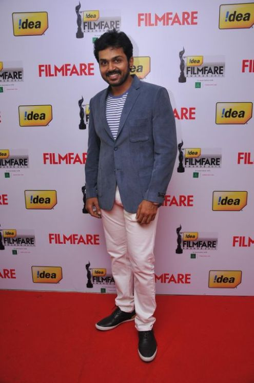 Karthi at the Red Carpet of '59th !dea Filmfare Awards 2011' (South) on 8th July at Jawaharlal Nehru indoor stadium, Chennai.