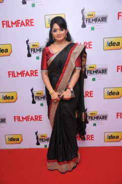 Kavya Madhavan received The Best Actor Award (FEMALE) for the Malayalam Movie 'Gaddama' at the Red Carpet of '59th !dea Filmfare Awards 2011' (South