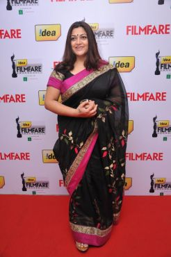 Kushboo (Actress) at the Red Carpet of '59th !dea Filmfare Awards 2011' (South) on 8th July at Jawaharlal Nehru indoor stadium, Chennai.