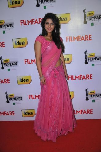 Sarmila Mandre (Telugu Actress) at the Red Carpet of '59th !dea Filmfare Awards 2011' (South) on 8th July at Jawaharlal Nehru indoor stadium, Chenna
