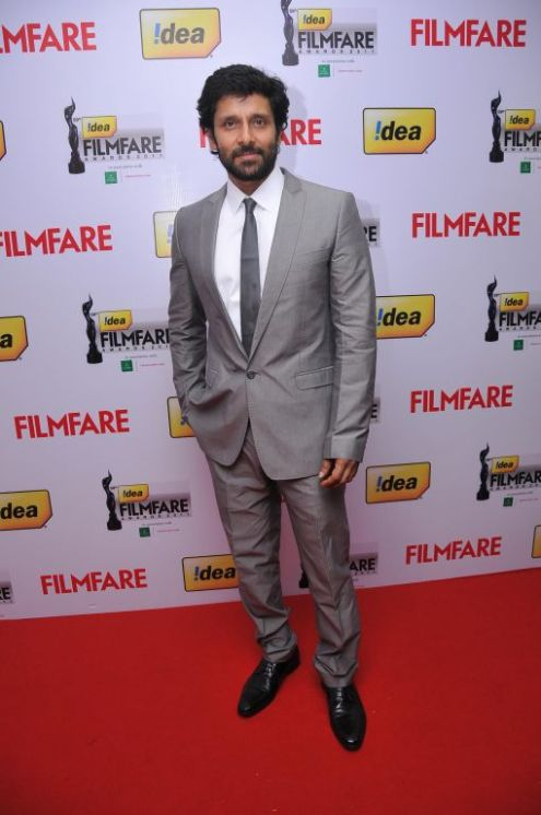 Vikram arrives at the Red Carpet of '59th !dea Filmfare Awards 2011' (South) on 8th July at Jawaharlal Nehru indoor stadium, Chennai.