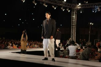 19 - Shawar Ali walks the ramp for designer Asif Shah's collections in Indore at Sayaji Palace..