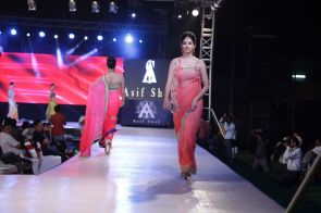 42 - Models with designer Asif Shah's collections in Indore at Sayaji Palace.,..
