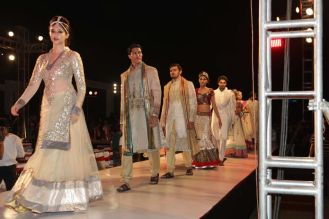 62 - Models at the Finale of Asif Shah's Fashion Show in Indore at Sayaji Palace.