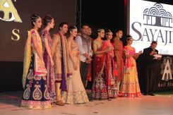 66 - Designer Asif Shah with Models at the Finale of Asif Shah's Fashion Show in Indore at Sayaji Palace.