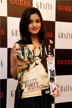 Grazia Cover launched by Alia Bhatt at Guess.,