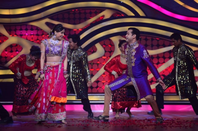 Rahul and Dimpy Mahajan during their performance in Nach baliye-5 starting 29th December 2012 at 9 pm only on STAR Plus.
