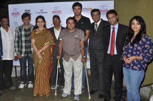 Datta Chindarkar, Sanket Bhirud, Shaina N.C, Sagar Badwe, Olympian Virdhawal Khade, Navin Anchal, Sachin Girishkumar- Co-Founder Square Off, Ashish Agarwal, Roadies 8 Winner Pooja Banerjee.