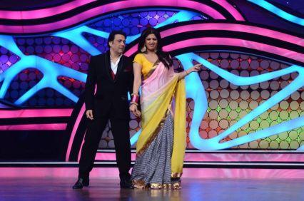 Govinda and Shilpa shaking-a-leg on Nach Baliye-5 set. Catch Nach Baliye-5 sat and sun @ 9pm on STAR Plus