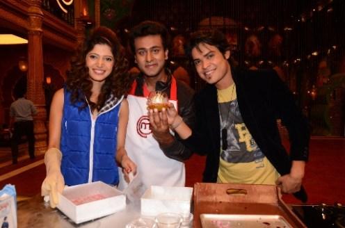 Amar Charlie with Ripu Handa at MasterChef Cook-off 2