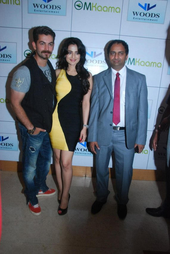 Shortcut Romeo stars Neil Nitin Mukesh, Ameesha Patel & Mr. Mahesh Chakankar at the Launch of 'Jaipur Premier League' Season-2 .....