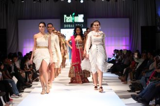 Showstopper Anjana Sukhani at the finale of 'Fashion Me 2013' in Dubai.