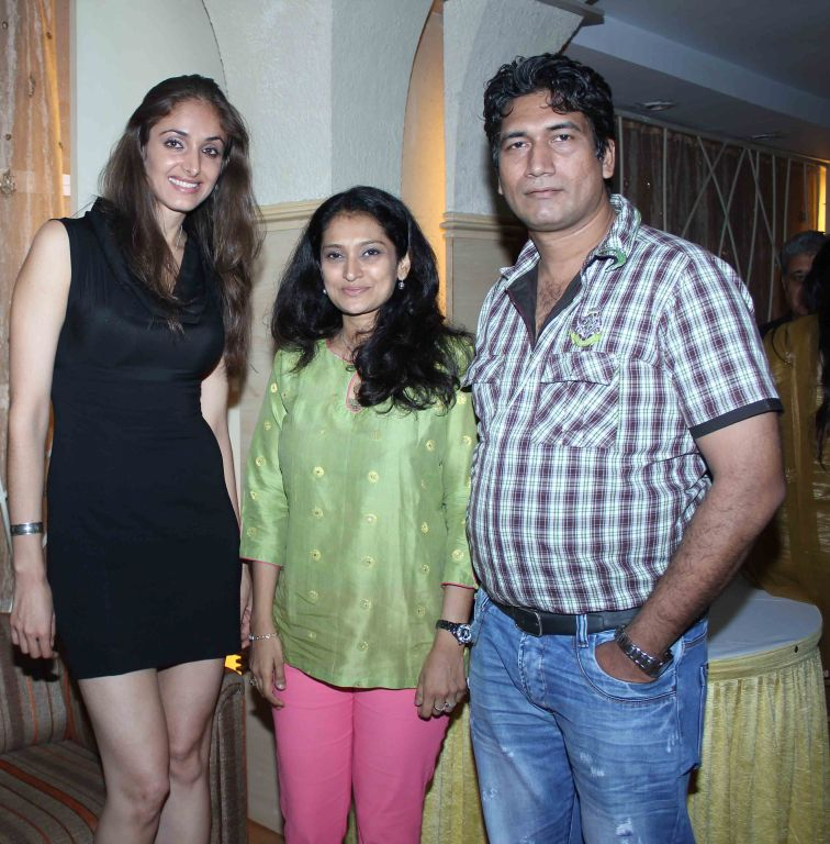 Mexican Actress With Singer Lalitya Munshaw And Producer Satish Reddy At Party