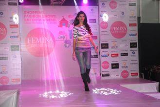 Model walking the ramp at fashion show at the 'Femina Carnival 2013' at Hyatt Regency, Pune.....