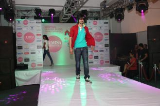 Model walking the ramp at fashion show at the 'Femina Carnival 2013' at Hyatt Regency, Pune...