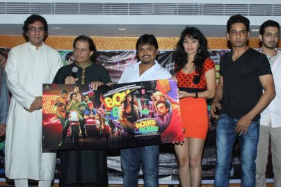 Talat Aziz Anup Jalota With The Cast Of Movie At The Music Launch