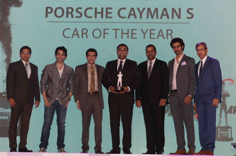 Car of the Year - Porsche Cayman at the '6th TopGear Awards 2013' at Sofitel, Mumbai