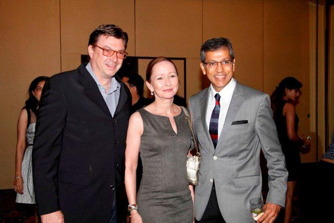 Mr. William with wife & Mr. Tarun Rai (CEO, World Wide Media) at the Grazia Young Fashion Awards 2014 at the Leela, Mumbai