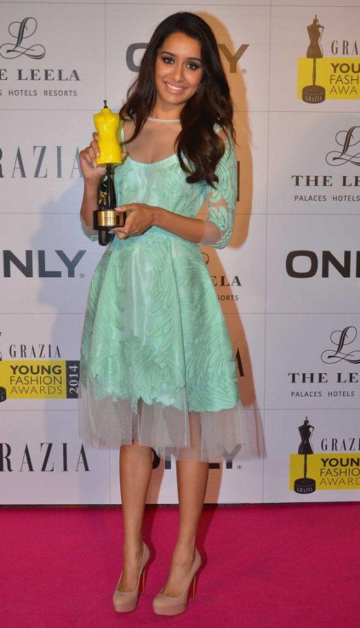 Shraddha Kapoor at the Red Carpet of Grazia Young Fashion Awards 2014 at the Leela, Mumbai.