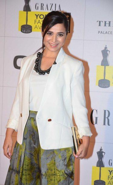 Simone Singh at the Red Carpet of Grazia Young Fashion Awards 2014 at the Leela, Mumbai