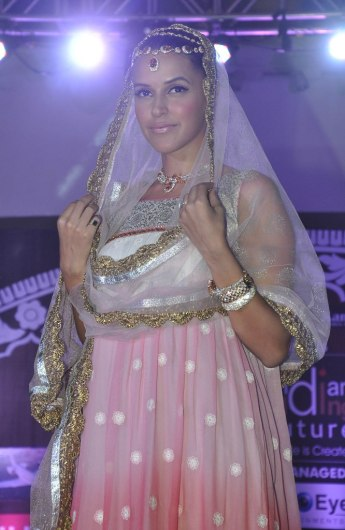 Neha Dhupia walked as showstopper at the finale show of 'Indian Wedding Couture'.3