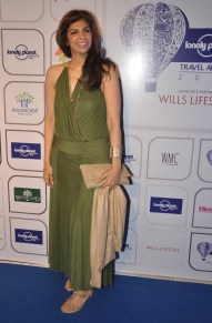 Zeba Kohli at the Blue carpet of 'The Lonely Planet Magazine India Travel Awards 2014'