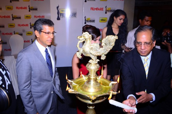 Rajat Mukarji (CCAO-Idea Cellular) while innaugurating the '61st Idea Filmfare Awards 2013' (SOUTH) Press Conferenece at Taj Krishna.