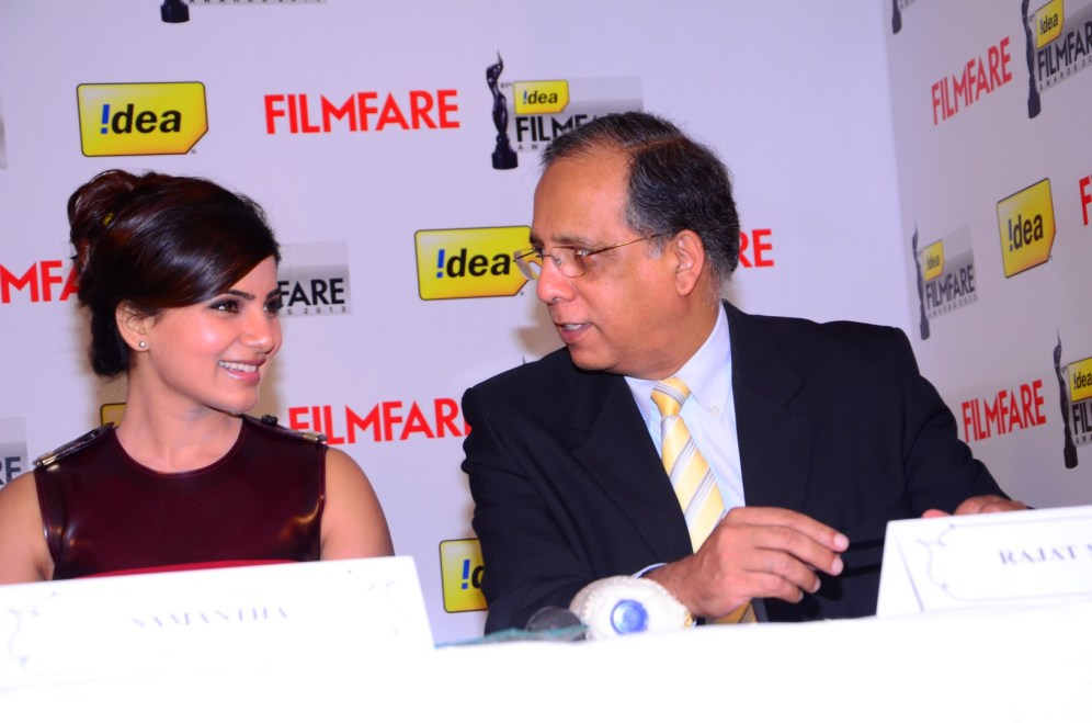 Samantha Prabhu & Rajat Mukarji (CCAO-Idea Cellular) at the '61st Idea Filmfare Awards 2013' (SOUTH) Press Conferenece at Taj Krishna.