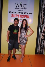 02 L-R Actor Vikas Bhalla & Actress Pooja Chopra @ SuperSpin event in Gold's Gym, Bandra
