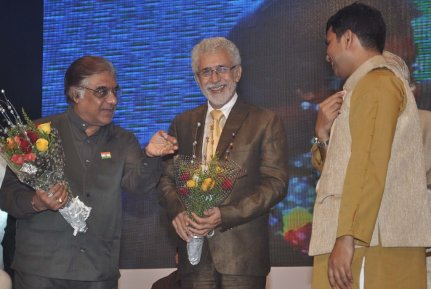Naseeruddin Shah released Quaiser Khalid's Poetry at Pasbaane Adab's 'Third Inrenational Poetry Festival'.13