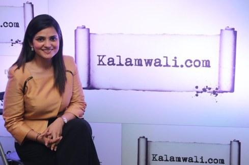 Sonia Gandhi (founder, kalamwali.com) at the launch of kalamwali.com 'a world of words'.