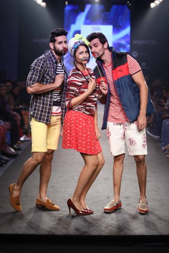 LookGood Fall 2014 Trend Indigo and Print Clash curated by Ami Patel with Kalki Koechlin as shostopper 6