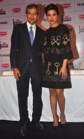 Mr. Tarun Rai, (Chief Executive Officer, WWM) & Priyanka Chopra at the Press Conference of '60th Britannia Filmfare Awards 2014' at JW Marriot, Mumbai