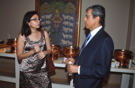 Ms. Anupama Bhalla & Mr. Tarun Rai, (Chief Executive Officer, WWM) at the Press Conference of '60th Britannia Filmfare Awards 2014' at JW Marriot, Mumbai.