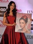 Aditi Rao Hydari launches Femina Salon & Spa Magazine cover at The White Owl Lounge.2