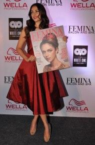 Aditi Rao Hydari launches Femina Salon & Spa Magazine cover at The White Owl Lounge.6
