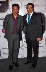 Celebrity Cricketer Sanjay Manjrekar with Girish Karkera (Editor, TopGear) at the 7th TopGear Awards