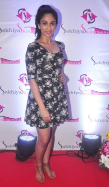 Deepti Sati (Femina Miss India) at the 'Sakhiya skin Clinic' Launch in Mumbai