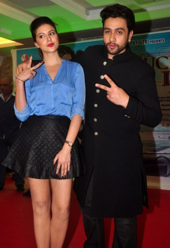 Karishma Kotak & Adhyayan Suman at the First Look & Music Launch of film Luckhnowi Ishq.4