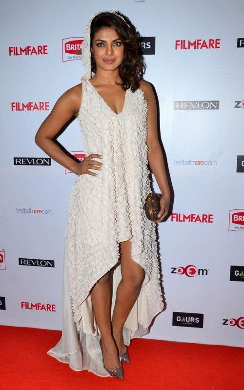 Priyanka Chopra at the Red Carpet of '60th Britannia Filmfare Awards 2014' Pr Awards Party at Hyatt Regency.