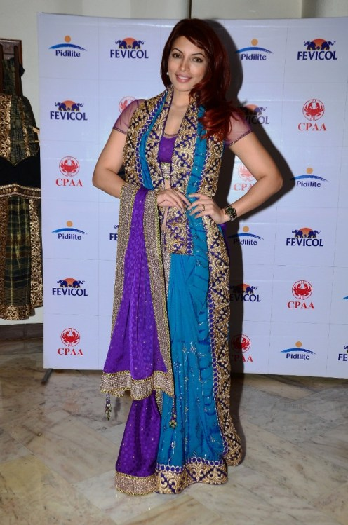 Shama Sikander at the Media Preview of collections by Shaina NC to be presented at Fevicol Caring with Style