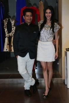 Designer Harsh Gupta with Amyra Dastur @ Designer HARSH HARSH's SS 2015 preview soiree