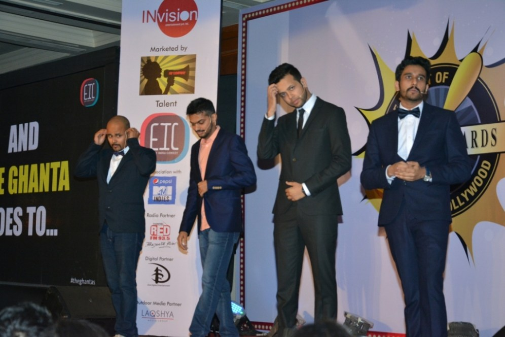 The East India Comedy Team at Ghanta Awards 2015
